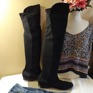 💜CHINESE LAUNDRY suede leather knee high boots 10